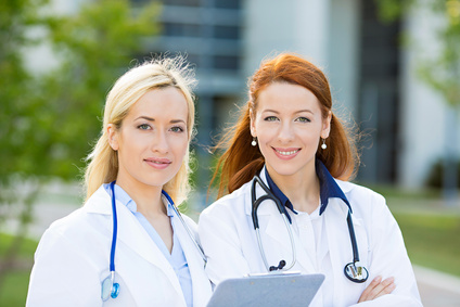 Portrait of female health care professionals, nurses